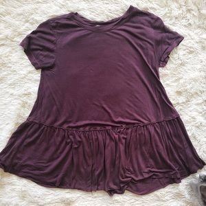 Urban Outfitters Truly Madly Deeply Peplum Tee